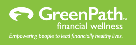 GreenPath logo with tagline for dark backgrounds